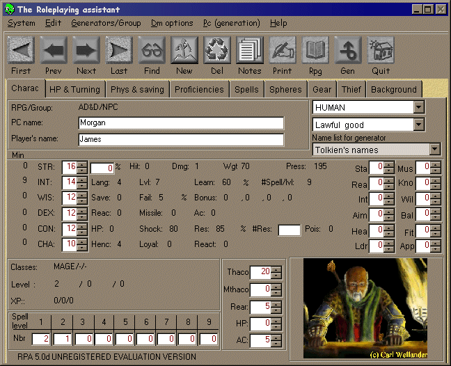 Roleplaying Assistant Screenshot