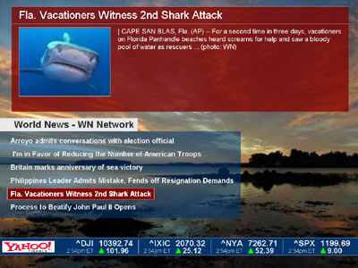 Online News Screensaver Screenshot