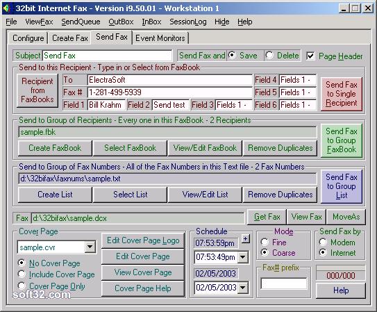32bit Internet Fax Screenshot 2