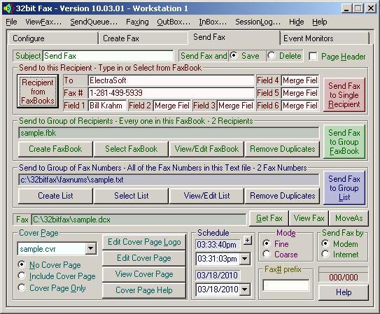32bit Fax Screenshot 1