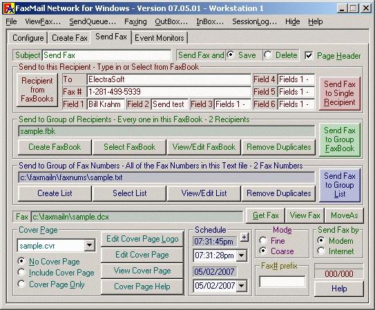 FaxMail Network for Windows Screenshot 1