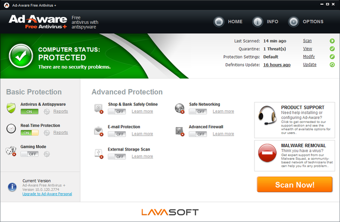 Ad-Aware Free Antivirus Screenshot 1