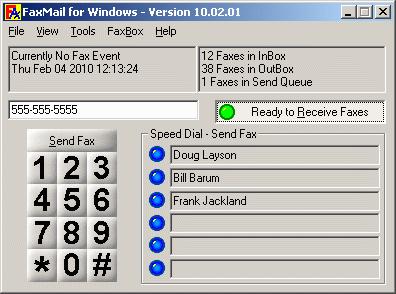 FaxMail for Windows Screenshot 1