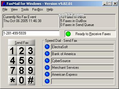 FaxMail for Windows Screenshot 2
