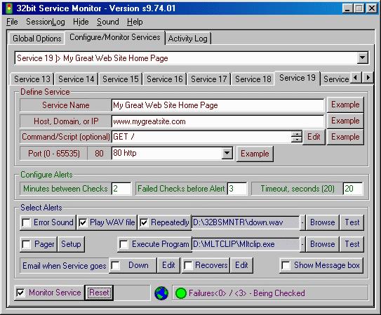 32bit Service Monitor Screenshot 4
