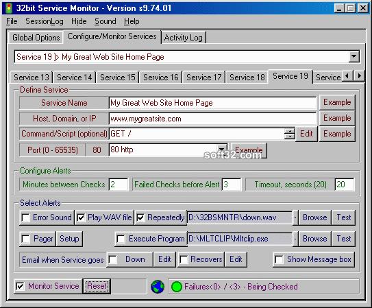 32bit Service Monitor Screenshot 2