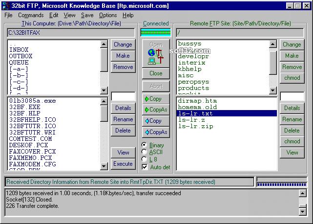 32bit FTP Screenshot 2