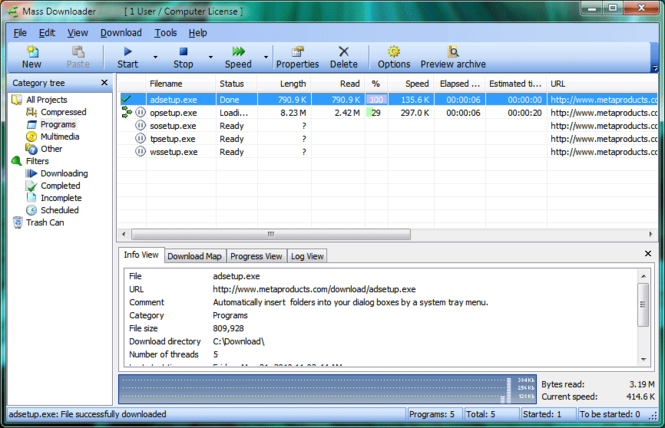 Mass Downloader Screenshot 1