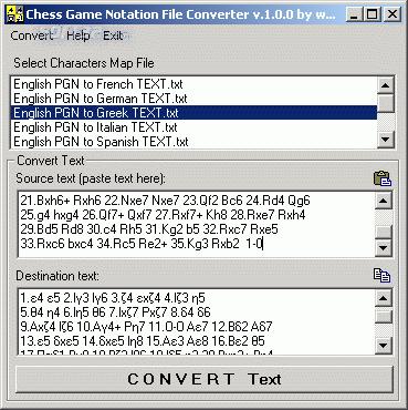 Chess Game Notation File Converter Screenshot 2