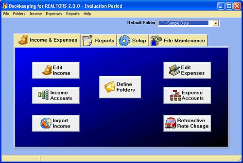 Bookkeeping for REALTORS Screenshot