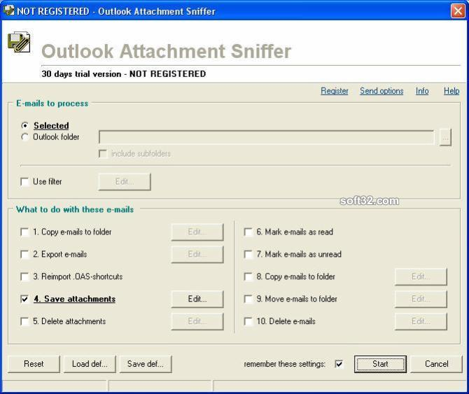 Outlook Attachment Sniffer Screenshot 3