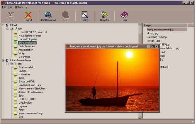 Photo Album Downloader for Yahoo Screenshot