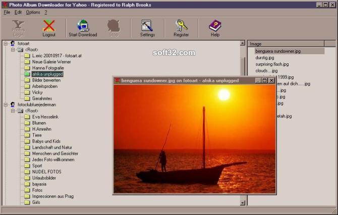 Photo Album Downloader for Yahoo Screenshot 2