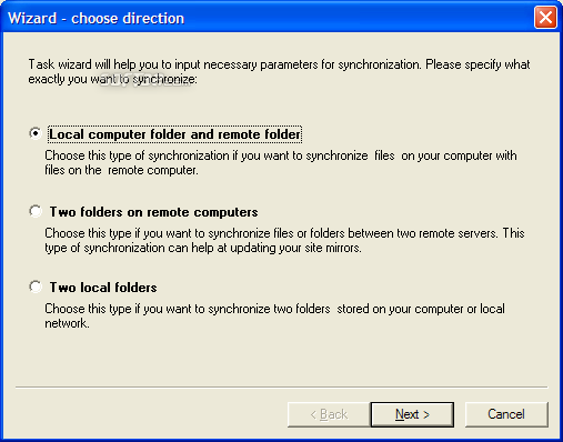WebSynchronizer Screenshot 3