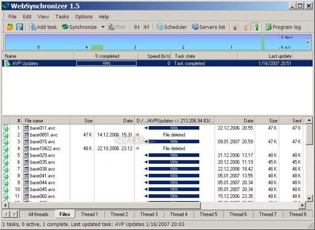 WebSynchronizer Screenshot 2