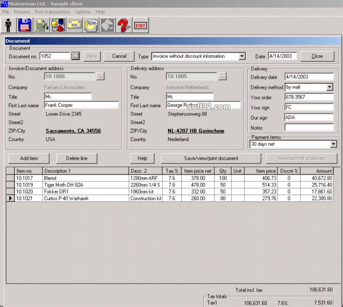 Account Pro Invoice Screenshot 2