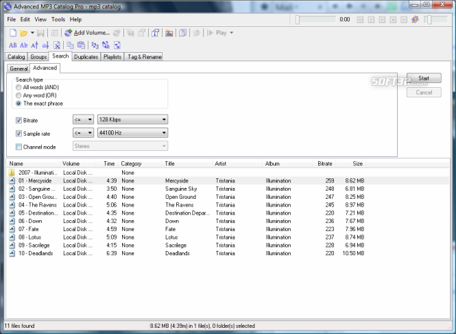 Advanced MP3 Catalog Pro Screenshot 5
