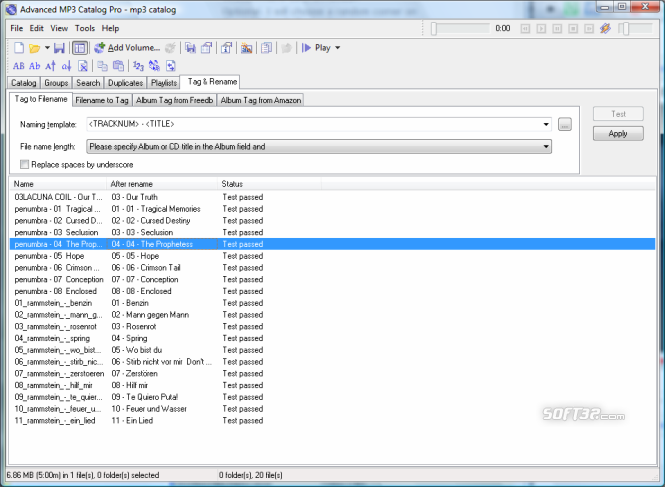 Advanced MP3 Catalog Pro Screenshot 7