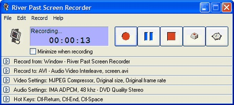River Past Screen Recorder Screenshot