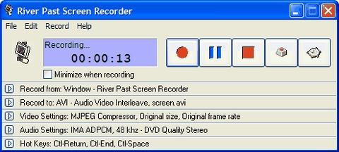 River Past Screen Recorder Screenshot 1