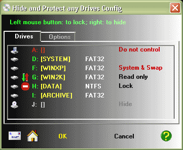 Hide & Protect any Drives Screenshot