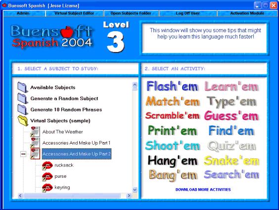 Buensoft Spanish Screenshot 1
