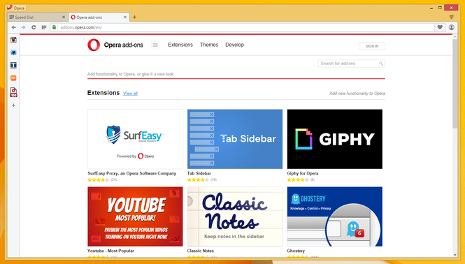 Opera browser Screenshot 4