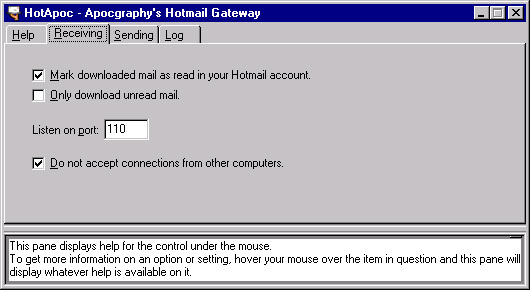HotApoc - Hotmail Gateway Screenshot