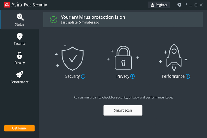 Avira Free Antivirus Screenshot 1
