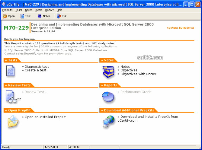 uCertify MCSD.NET - 70-229 practice test Screenshot 3
