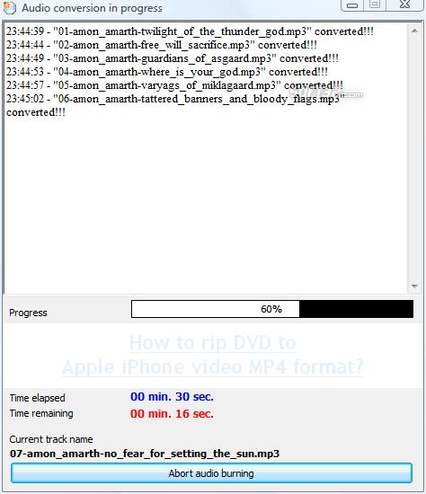 Burn4Free DVD Burning software Screenshot 4