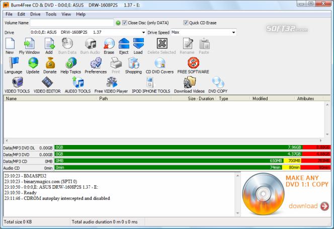 Burn4Free DVD Burning software Screenshot 6