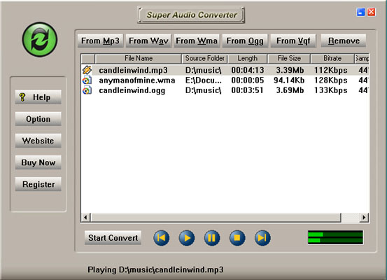 Super Audio Converter Screenshot