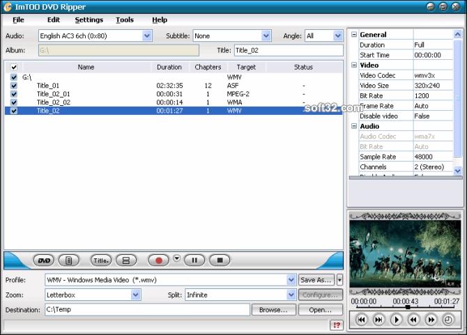 ImTOO DVD Ripper Screenshot 2