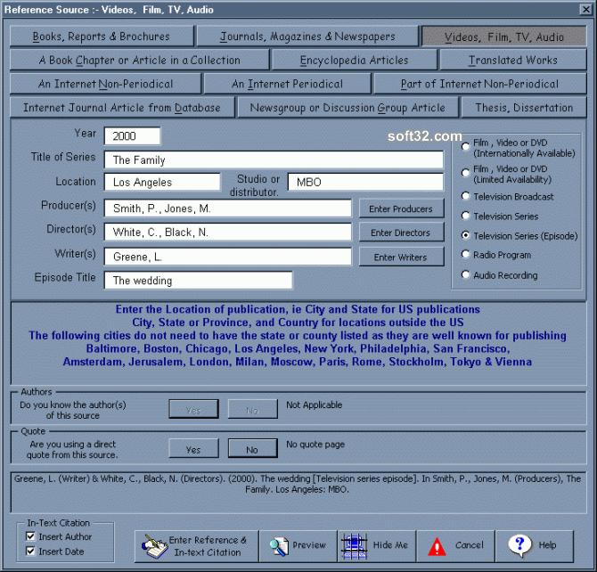 APA Referencing Macros Screenshot 2