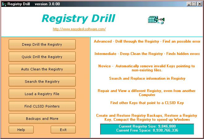 Registry Drill Screenshot 2