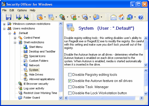 Windows Security Officer Screenshot