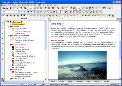 TreePad X Enterprise 12 Gb single-user Screenshot 2