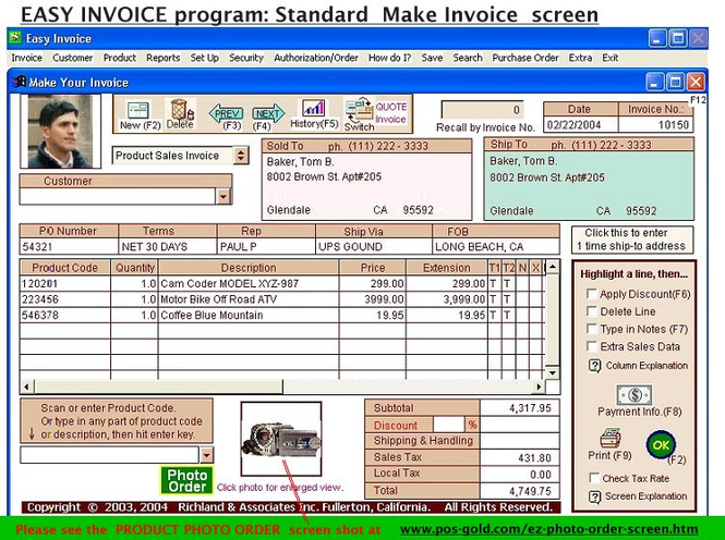 #1 Easy Invoice Program - Free Download Screenshot