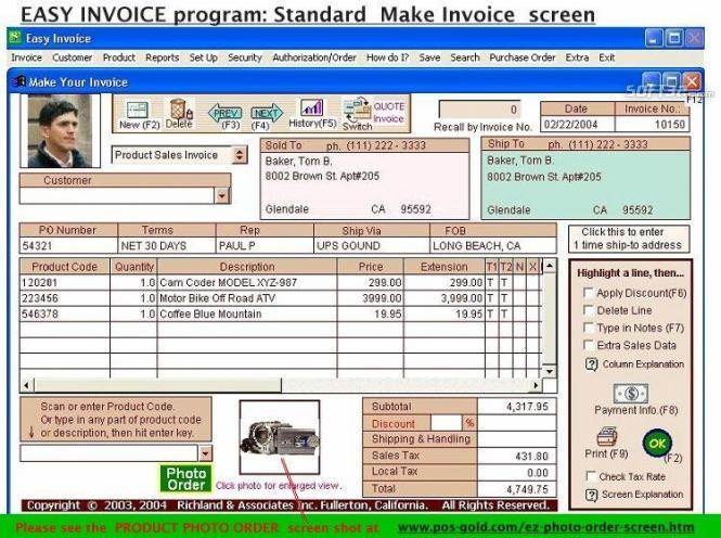 #1 Easy Invoice Program - Free Download Screenshot 2