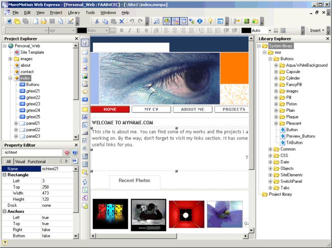 MoreMotion Web Express Screenshot