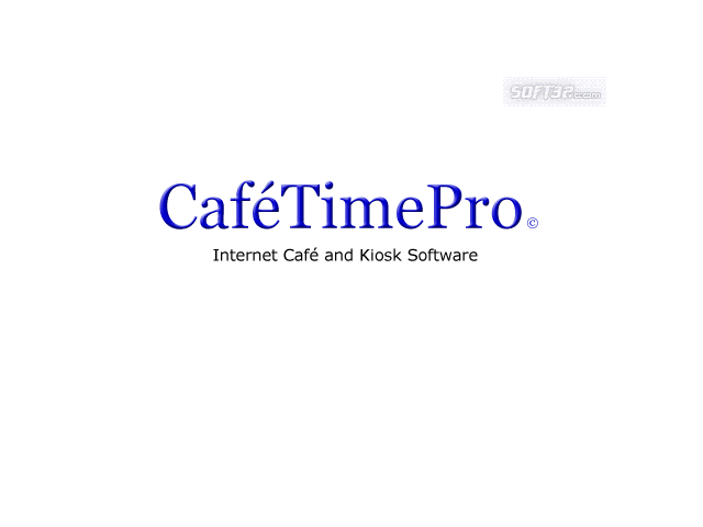 CafeTimePro - Internet Cafe Software Screenshot 1