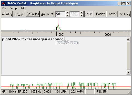 CwGet morse decoder Screenshot 2
