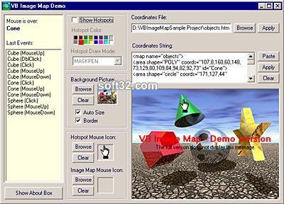 VB Image Map ActiveX Control Screenshot