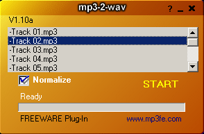 mp3-2-wav converter Screenshot