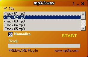 mp3-2-wav converter Screenshot 1
