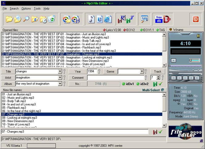 Mp3 File Editor Screenshot 1