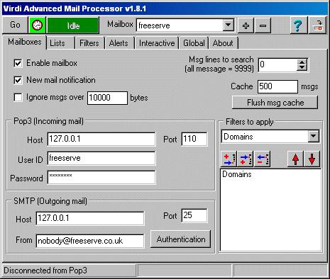 Virdi Advanced Mail Processor Screenshot