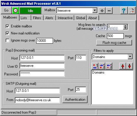 Virdi Advanced Mail Processor Screenshot 3