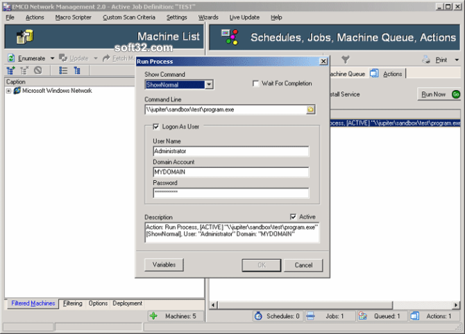 EMCO Remote Administration Screenshot 3